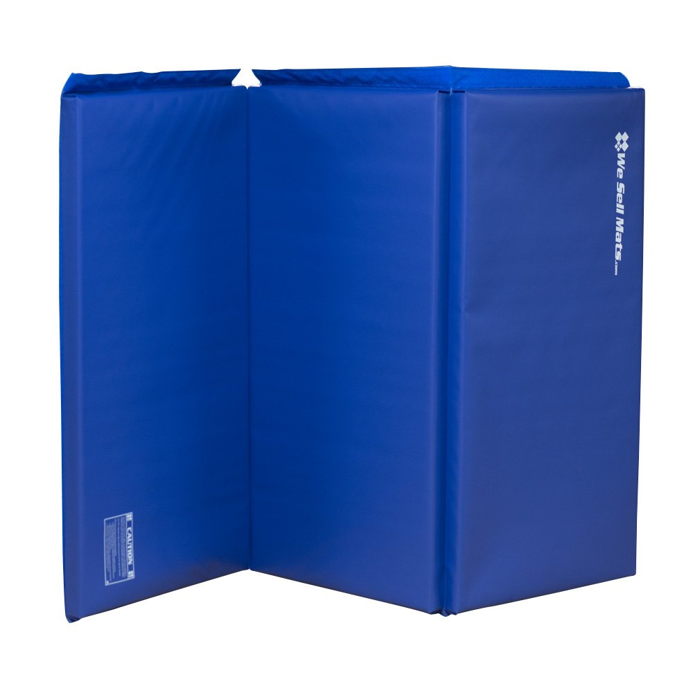 We Sell Mats Thick Gymnastics Tumbling Exercise Folding Mat, Blue, 4' x 6' x 2'' by We Sell Mats (Image #5)