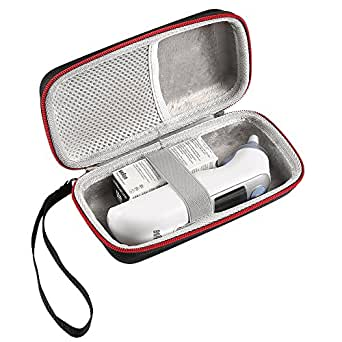 LuckyNV Carrying Thermometer Case for Braun Thermoscan 7 IRT6520 / ThermoScan 5 IRT6500 Travel Protective Storage Bag (Case Only)