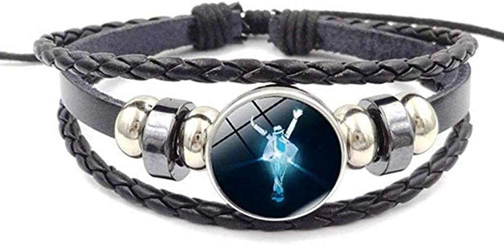 Premium Rock Music Themed Leather Braided Bracelet for Men and Women