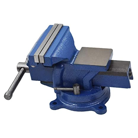 """2/"""" Bench Vise Anvil with Swivel Base Table Top Clamp Vice"""