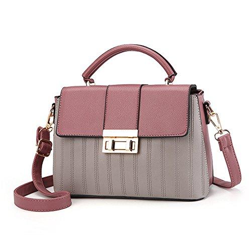 New Messenger Simple À Pink Gris Bandoulière Meaeo Bag Sac Women'S Flip B6Xqn7w