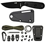 Cheap ESEE Black Izula with Black G10 Handle, Black Polymer Molded Sheath and Survival Kit