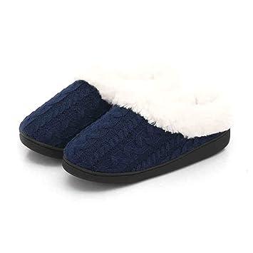 Womens/Mens Slip on Slipper Antislip Sandal Memory Foam Mules Knitted&Fleece Shoes Vintage Boho Style