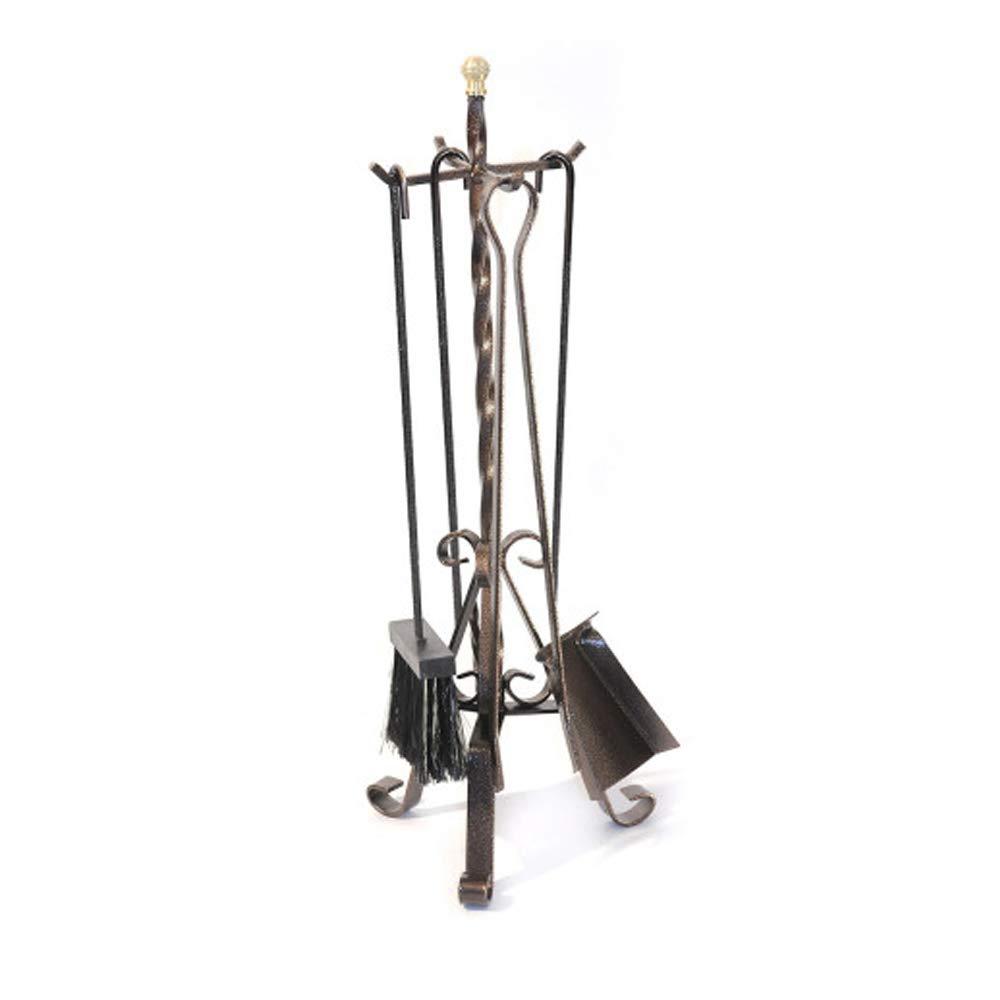 Divina Fire Set 4 attrezzi per camino caminetto 25xh70cm ferro battuto DF53569