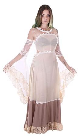 46ee09615448 JapanAttitude Robe Transparente Beige