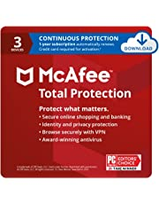 $24 » McAfee Total Protection 2021, 3 Device, Antivirus Internet Security Software, VPN, Dark Web monitoring, 1 Year with Auto Renewal - Download Code
