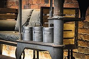 10.5 x 11 x 17 cm de Metal Gris Metal Estilo Vintage Kitchencraft Industrial Tarro de Cocina