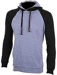 Men's Henley Raglan Lightweight Casual Pullover Long Sleeve Hoodie Men