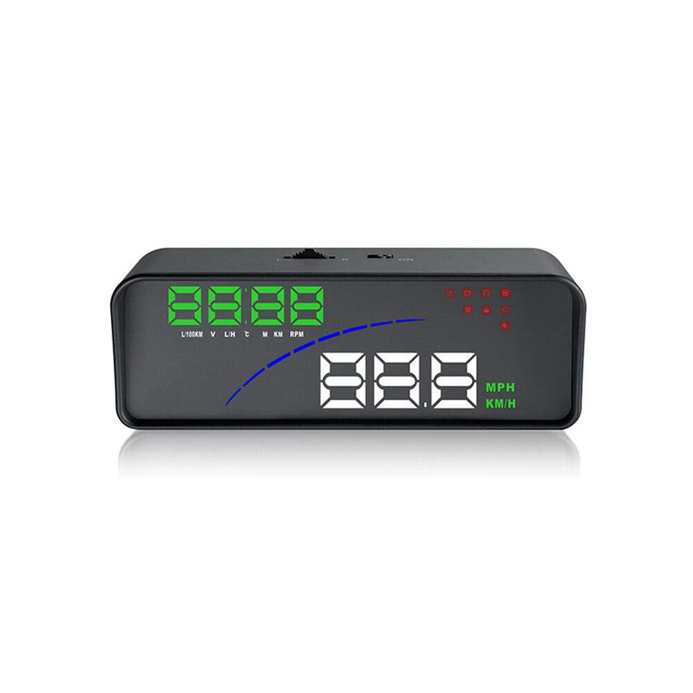 Car HUD Head-Up Display,3.6in HUD Head Up LED Projector OBD2 EUOBD Over Speed Warning Alarm Water Temp Voltage