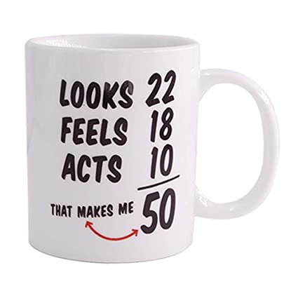 507c01897cef Christmas Gifts1968 50th Birthday Gifts Coffee Cups for Men,Women Novelty  Ceramic Mugs Anniversary or
