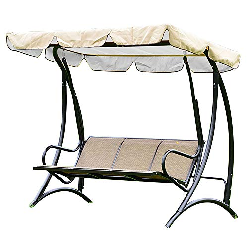Wrightus Swing Canopy Replacement Waterproof Top Cover for Patio Outdoor Swing Seat Furniture Porch Yard Garden 75'' x 51'' x 6''