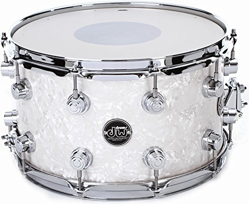 DW Performance Series Snare Drum - 8x14 - White Marine Finish Ply