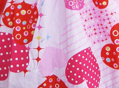 12 Rosa Ragazze Di Vestiti 4 Di Formato Rosa Anni Prendisole Partito Bambini Farfallino Stampa Cuore rt7tH