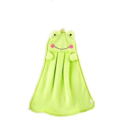 c-pioneer toalla de mano Animal de peluche bebé colgante niños toalla de baño limpiador