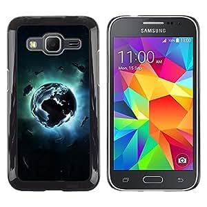 TopCaseStore / la caja del caucho duro de la cubierta de protección de la piel - Planet Explosion - Samsung Galaxy Core Prime SM-G360