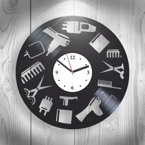 Hairdresser Barbershop Decoration, Hairhouse, Hair Stuff Cut New Handmade Vinyl Wall Clock, Art, Office Decorations For Living Room Inspirational, Bes…
