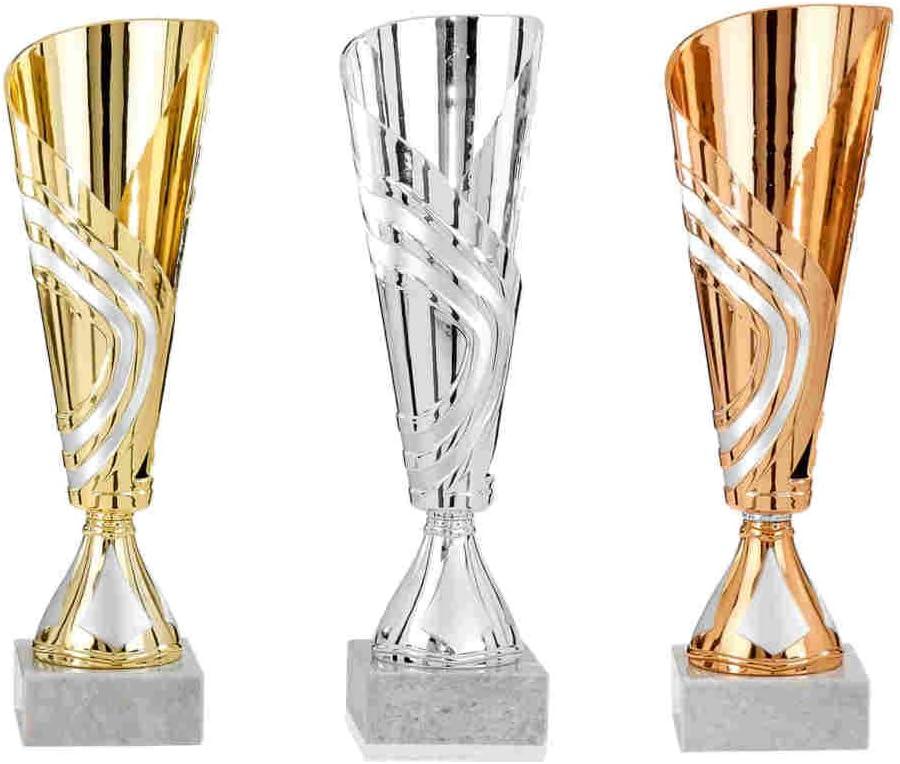 Sportland Pokal Gold Gr Silber oder Bronze S.B.J 30 cm