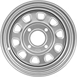 ITP Delta Steel Silver Wheel with Machined Finish (12x7''/4x137mm)