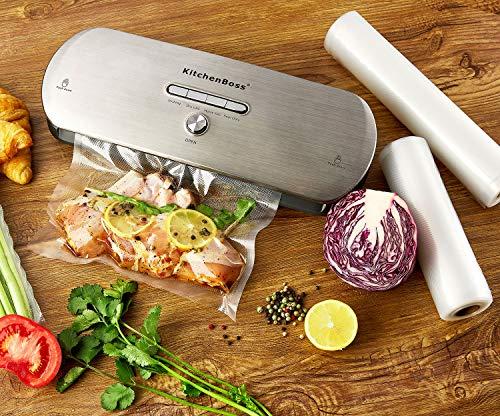 Macchina Sottovuoto per Alimenti KitchenBoss Sottovuoto Macchina Vacuum Sealer Professionale Automatica Portatile con… 6