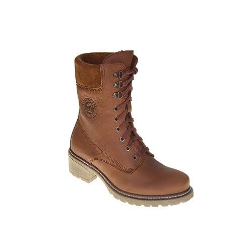 Panama Jack Leila B12 Botas de Cuero para Mujer marrón