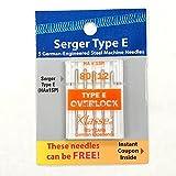 #10: Klasse 5 Pk. HAX1SP 15X1SP Home Serger Overlock Needles Size 80/12