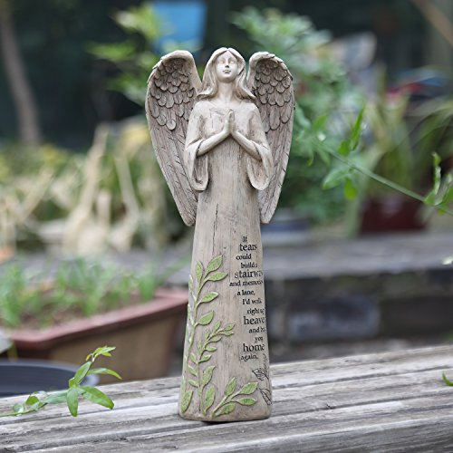 Garden Statuary Praying Angel Outdoor Resin Sculptures Collectible Figurines 14