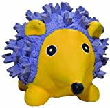 HuggleHounds Ruff-Tex Squeaky Tough Dog Chew Toy All Natural, Hedgehog, Large