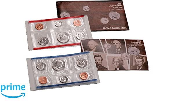 1985 P+D BOTH UNCIRCULATED KENNEDY HALF DOLLARS FROM ORIGINAL SEALED MINT SETS