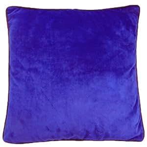 Dcorative Cojín 43cm terciopelo con cremallera cubierta Diseñador Imprimir sólido Funda de almohada Indian Art 17 pulgadas