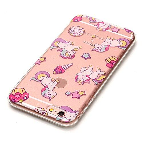 """Hülle iPhone 6 / 6S , LH Einhorn TPU Weich Muschel Tasche Schutzhülle Silikon Handyhülle Schale Cover Case Gehäuse für Apple iPhone 6 / 6S 4.7"""""""