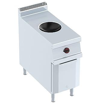 Macfrin 3473 Cocina 1 Fuego Wok Inducción 40X90: Amazon.es ...