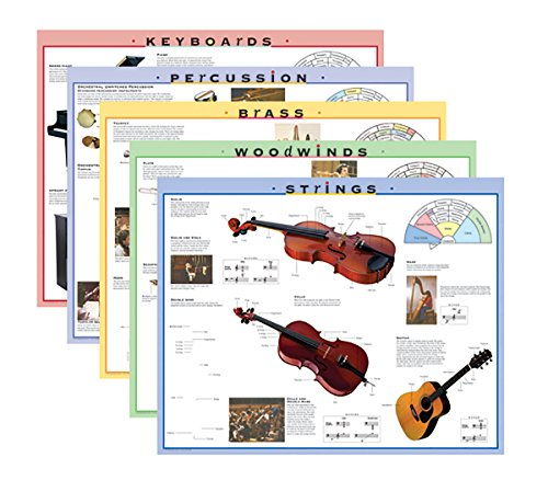 Instrument Family Posters - Instrument Family Posters and Outline Sheets: 5 Posters & 32 Outlines