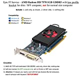 7750 hd low profile - Epic IT Service - AMD radeon HD 7570 1GB 1024MB GDDR5 low profile video card with display port and DVI for SFF / slim size computer
