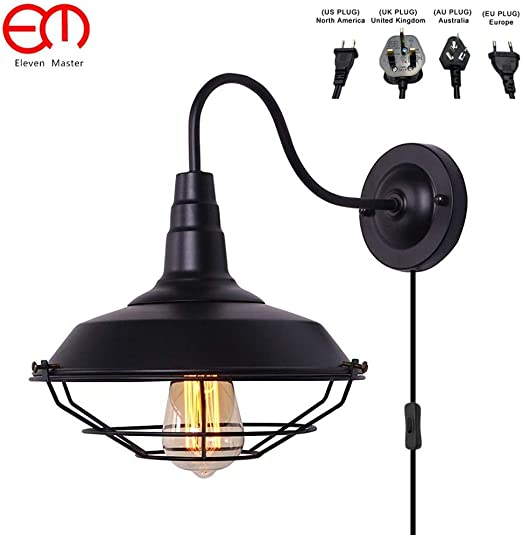 Con paralume in rete vintage antiche lampade da parete a led