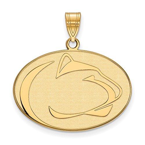(10k Yellow Gold Penn State University Nittany Lions Mascot Logo Pendant L - (21 mm x 28 mm))