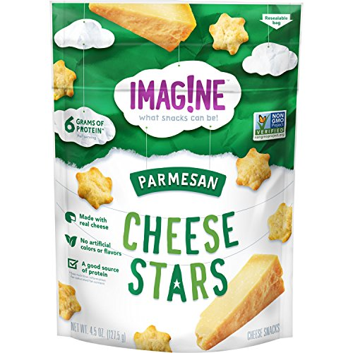 Parmesan Protein Chips - Imag!ne Parmesan Cheese Stars, 4.5 Ounce Bag