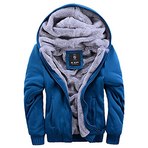 ASALI Men's Pullover Winter Jackets Hooed Fleece Hoodies Woo