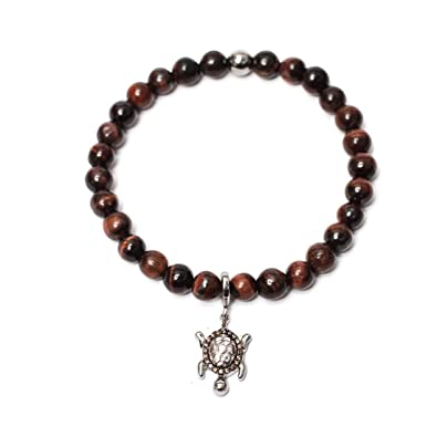 Amazon Com The Tortoise Lucky Charm Bracelet In Brown Cubic