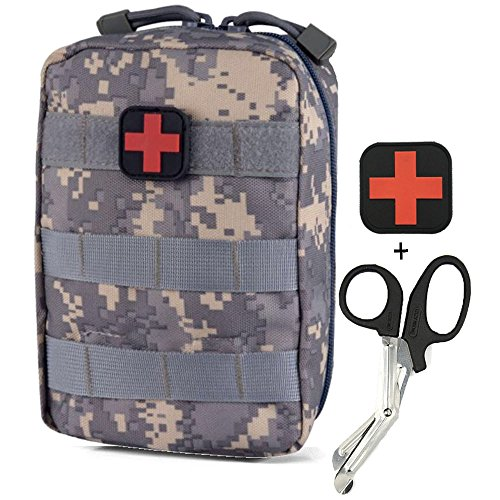 - Infityle Medical Pouch - 1000D Tactical MOLLE Ifak EMT Utility Bag with First Aid Patch and Shear (ACU)