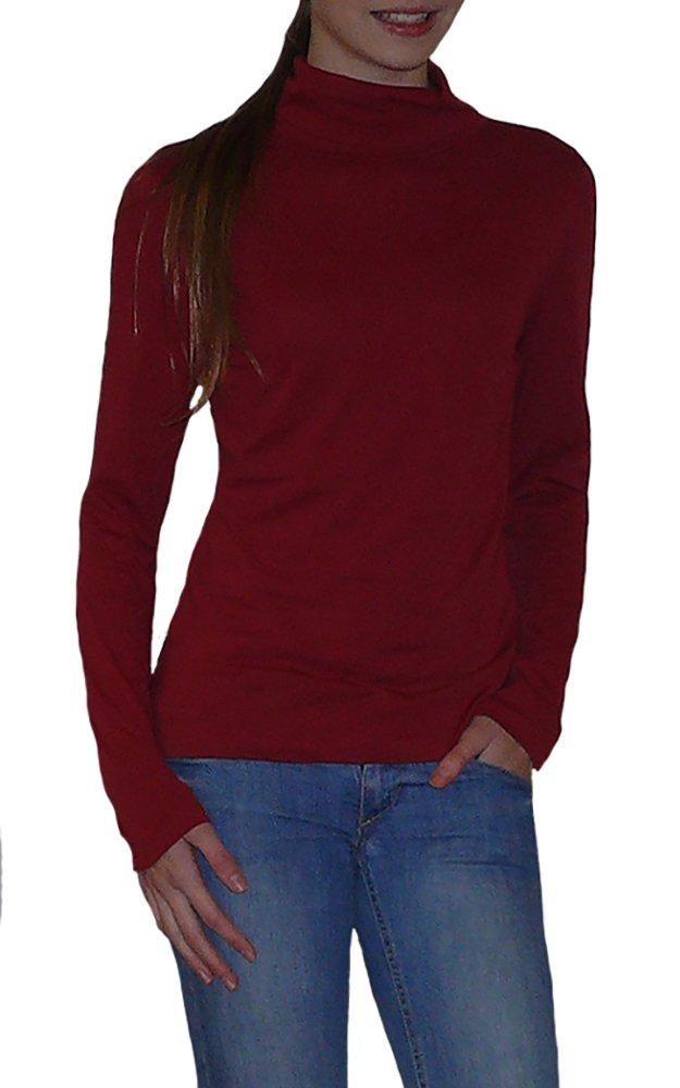 S&LU tolles leichtes Damen Rollkragen-Langarmshirt Größe 36-46 (S-XXXL/3XL):  Amazon.de: Bekleidung