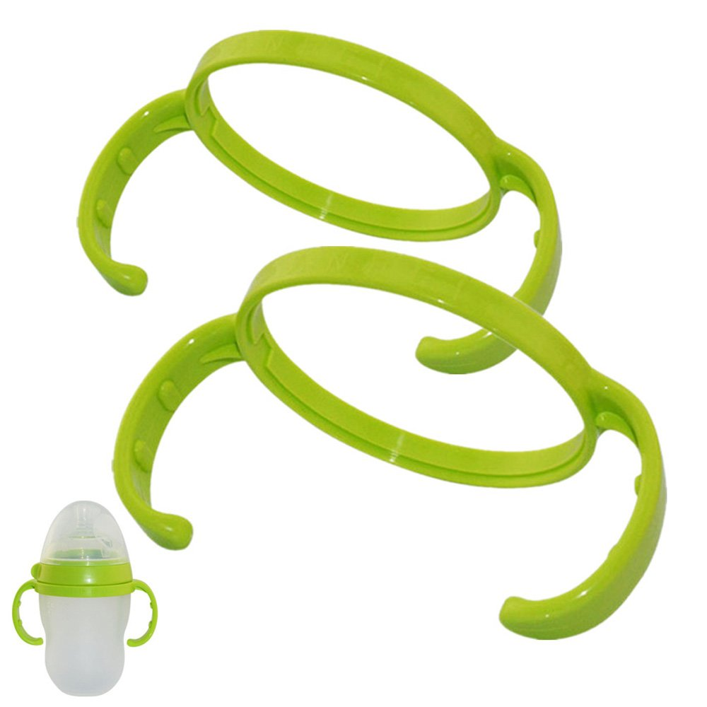 Feeding Bottle Handles for Comotomo Baby Bottle, Pack of 2 (Green) Generic