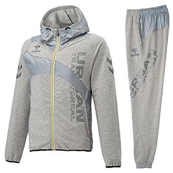 5aae87192c9d0 Amazon | スウェット 上下セット ヒュンメル Hummel UT-スウェット フーデッドジャケット パンツ 上下組 メンズ レディース スエット  トレーニング ...