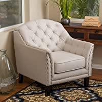 Ladera Beige Fabric Club Chair