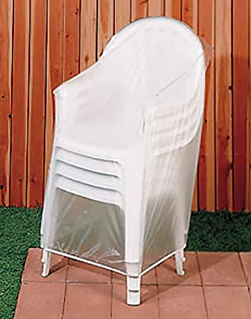 amazon com miles kimball white outdoor chair cover home kitchen