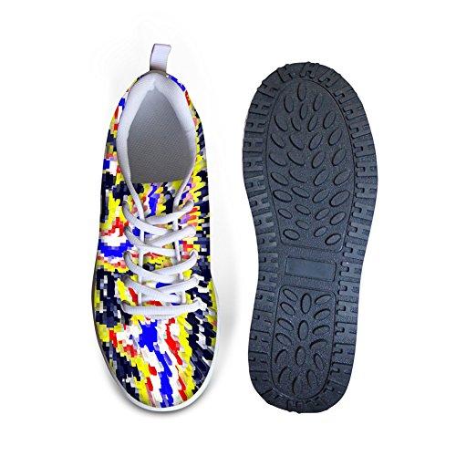 ... For U Design Stilig Treningsgang Sneaker Kvinners Kiler Platåsko Multi  2 ...