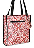 Ever Moda Damask Tote Bag (Coral Pink) Review