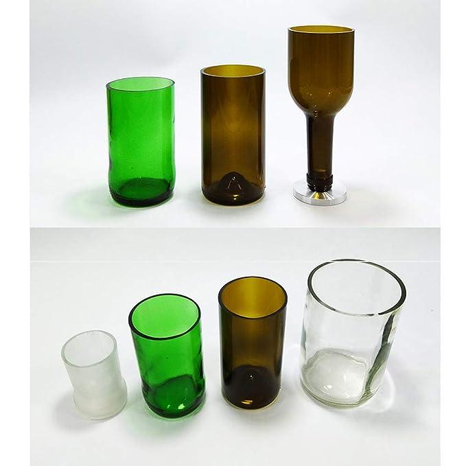 Cortadora De Botellas De Vidrio para Botellas Redondas, Kit De Herramientas De Corte para Proyectos De Bricolaje: Amazon.es: Hogar