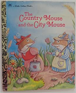 country mouse and the city mouse little golden book 10132 16 alan adap benjamin. Black Bedroom Furniture Sets. Home Design Ideas