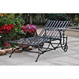International Caravan Mandalay Iron Patio Chaise Lounge in Black Review