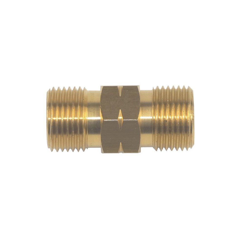 Doppelnippel 3/8 Links x 3/8 Links - Kupplung Adapter Propan Acetylen Gasschlauch - von Gase Dopp